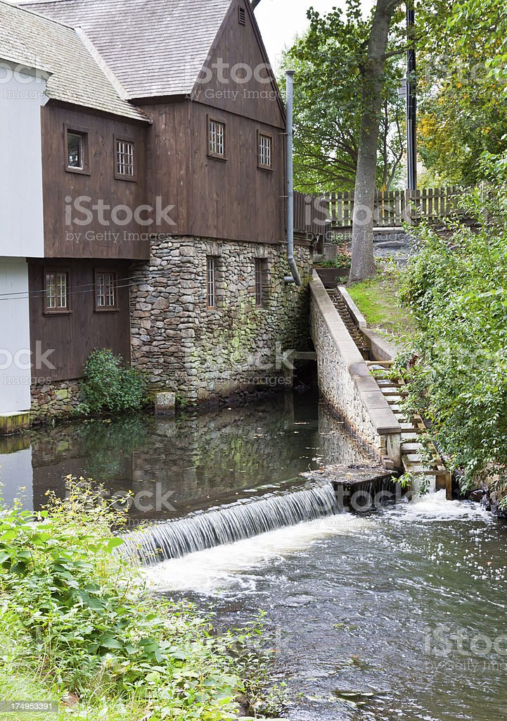 Jenney Grist Mill, Plymouth, Ma royalty-free stock photo