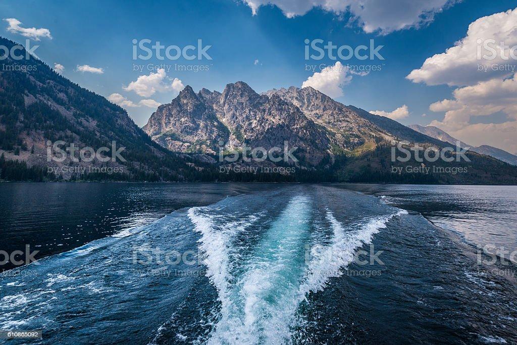 Jenny Lake in Grand Tetons stock photo