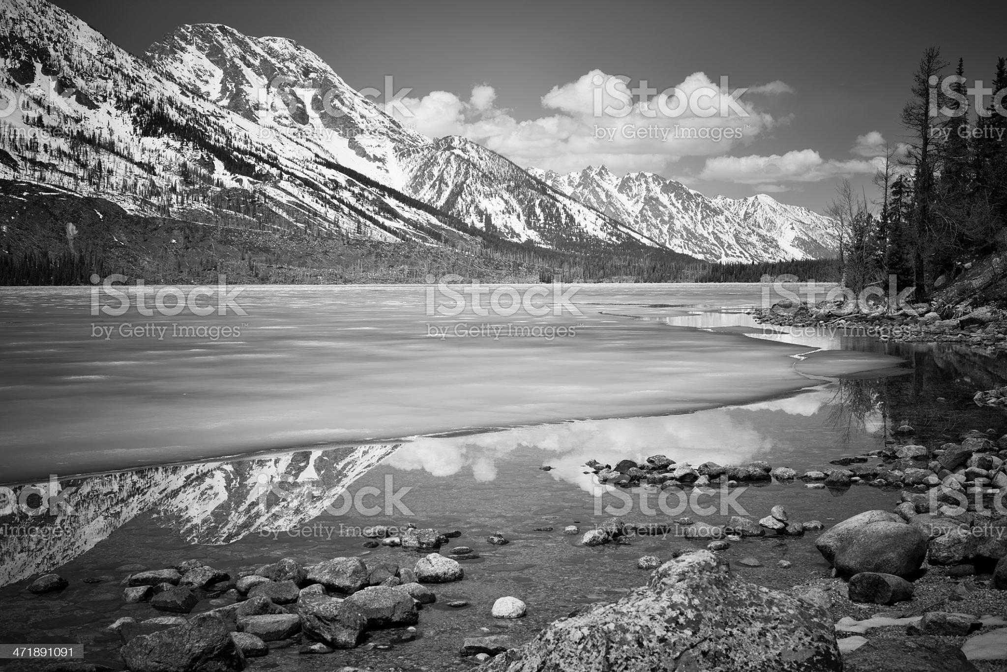 Jenny Lake, Wyoming royalty-free stock photo