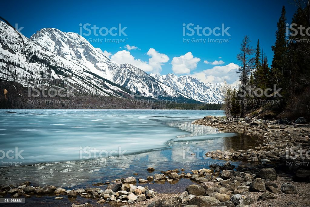 Jenny Lake, Wyoming stock photo