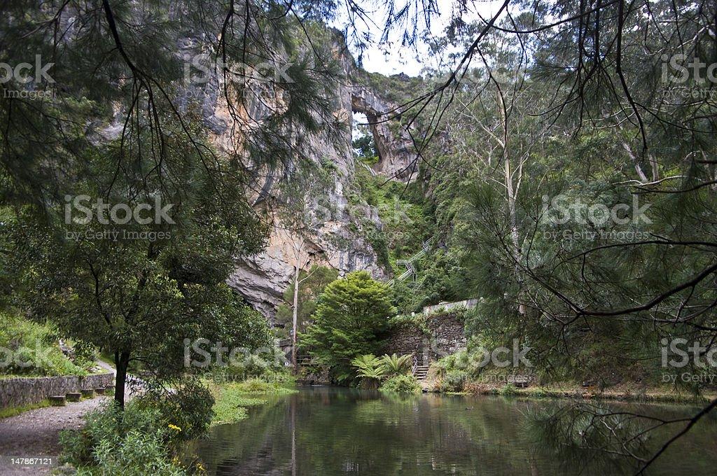 Jenolan acrh and caves in Blue mountains, Australia. stock photo