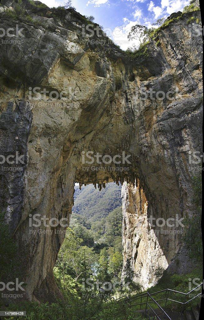 Jenolan acrh in Blue mountains, Australia. stock photo