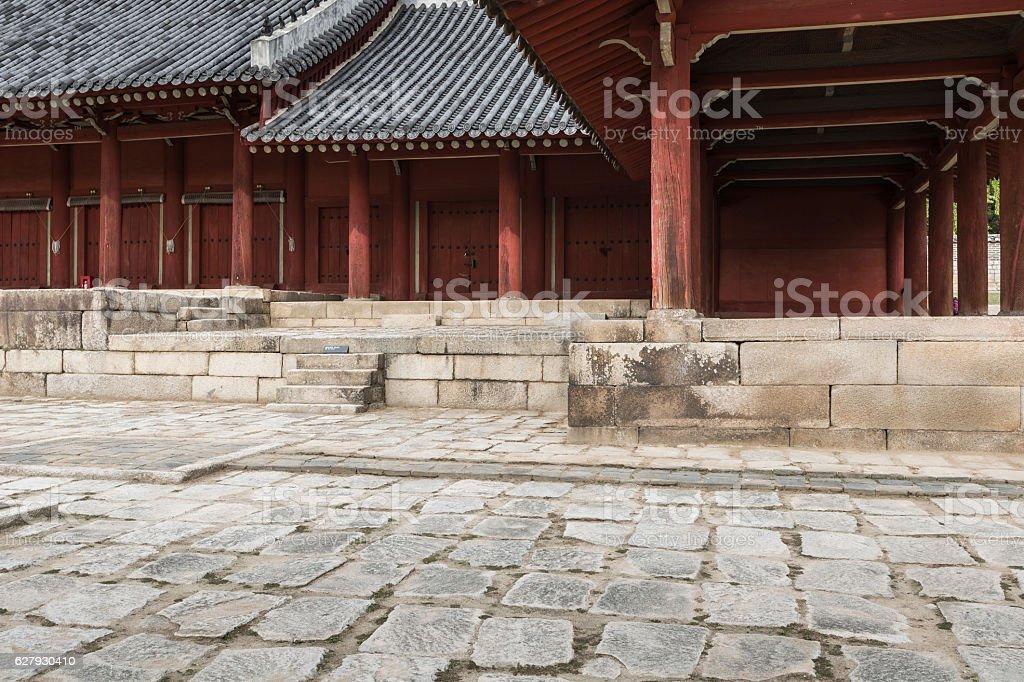 Jeongjeon - the main hall of the Jongmyo Shrine, Seoul stock photo