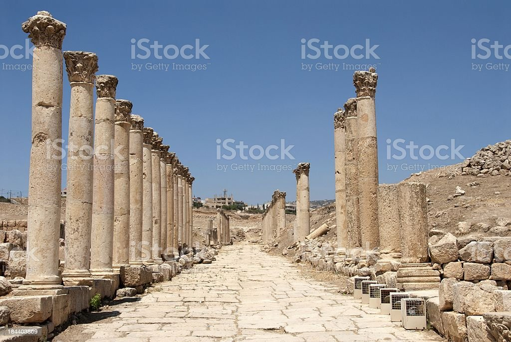 Jerash Ancient City stock photo