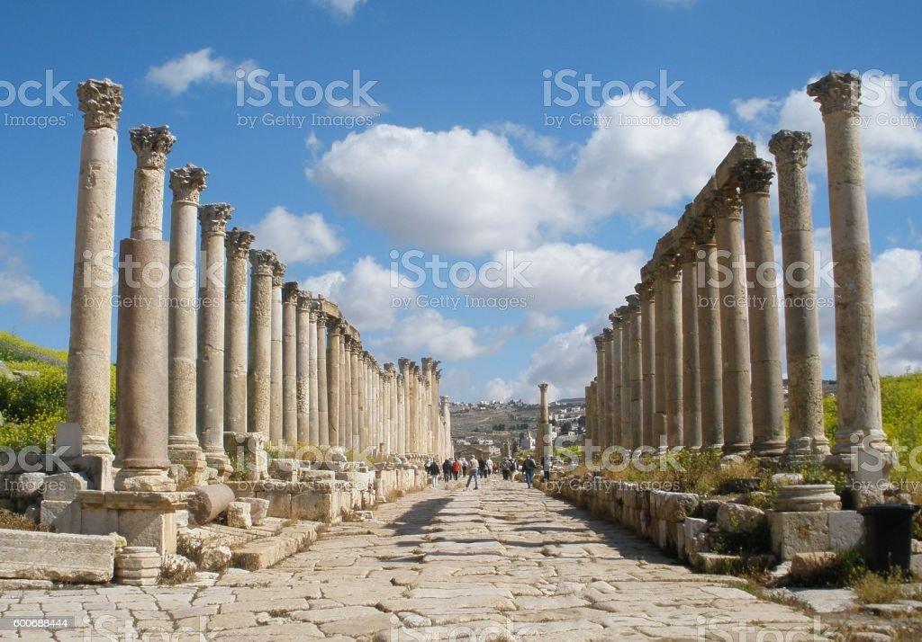 Jerash - Jordan ruins stock photo