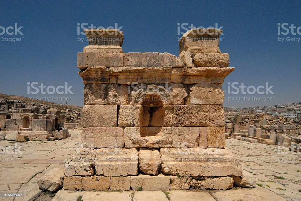 Jerash, Jordan: South Tetrapylon stock photo