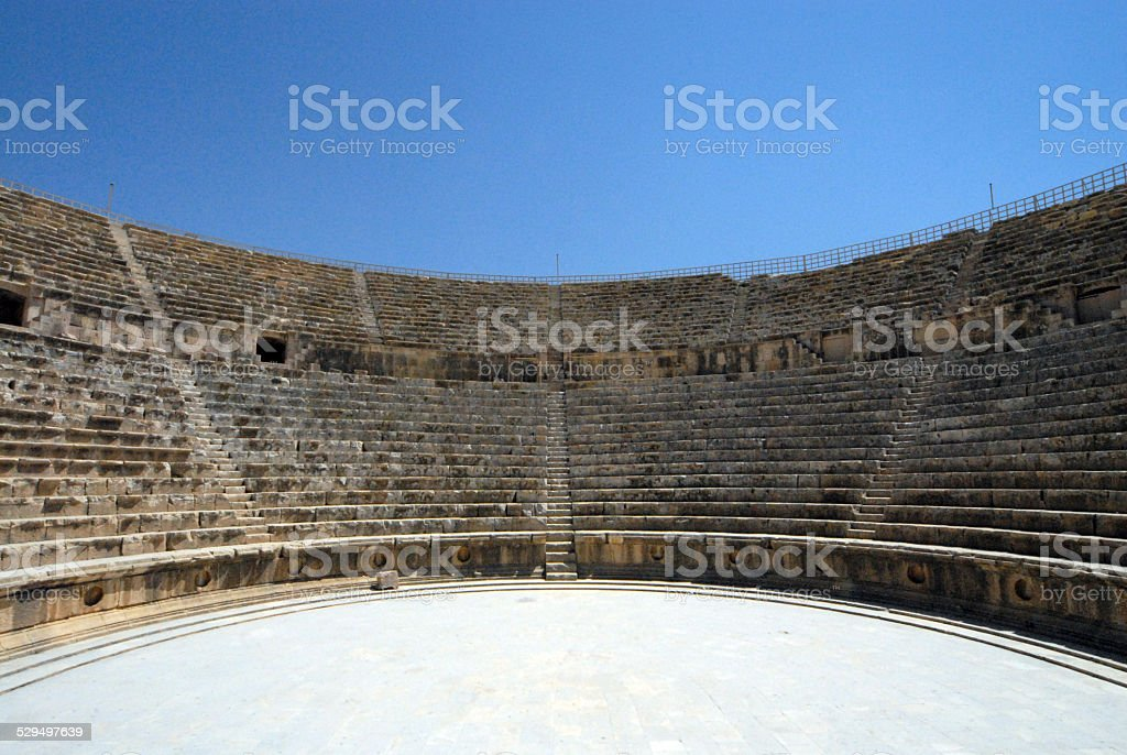 Jerash, Jordan: South theatre stock photo