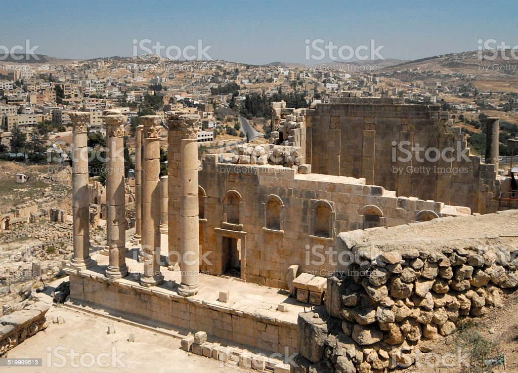 Jerash, Jordan: Temple of Artemis stock photo