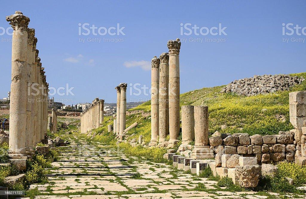 Jerash stock photo