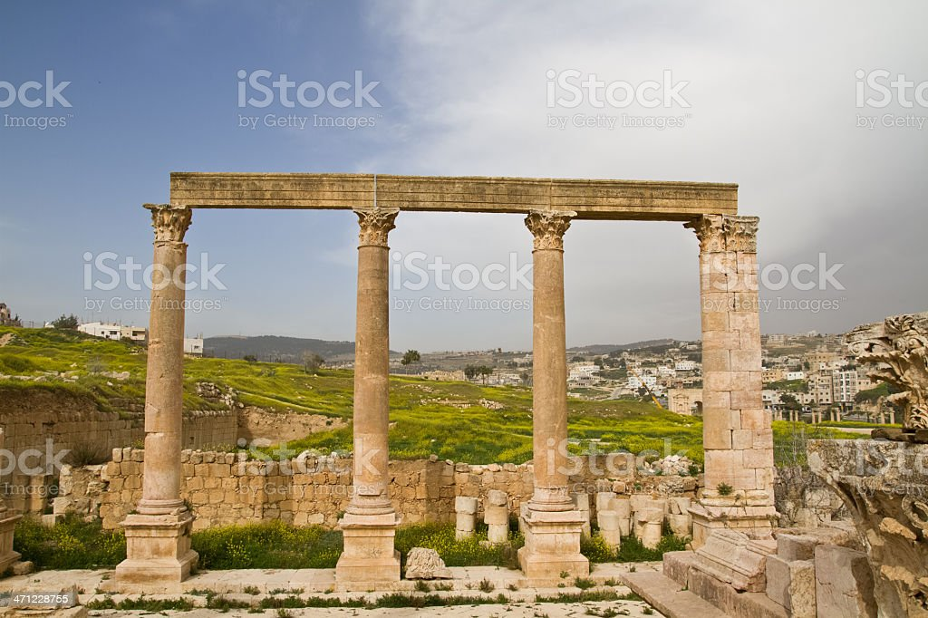 Jerash stock photo