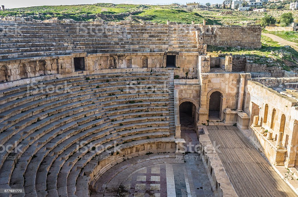 Jerash ruins in Jordan stock photo