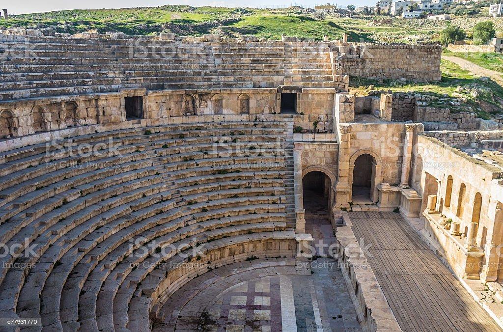 Jerash ruins in Jordan stock photo