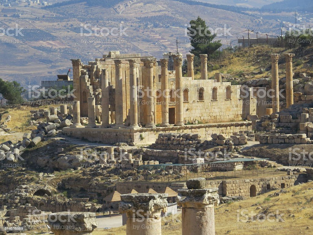 Jerash Ruins stock photo