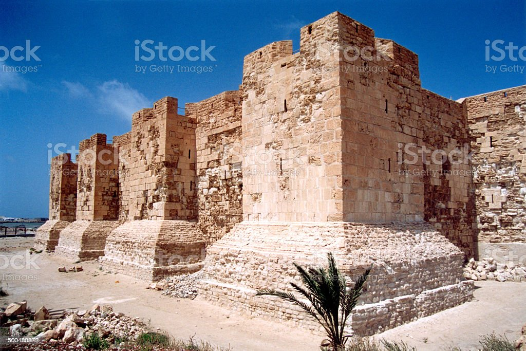 Jerba Island fort, Tunisia stock photo
