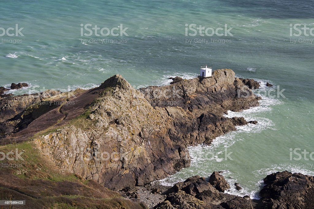 Jerbourg Point on Guernsey royalty-free stock photo