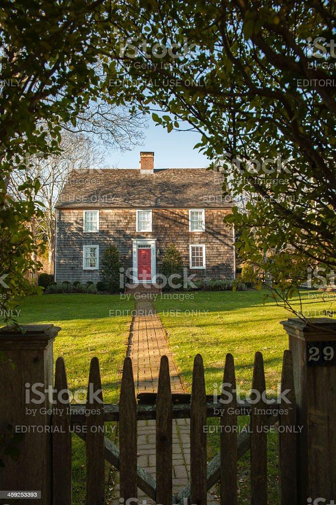 Jeremiah Conklin House. Amagansett, Long Island, USA stock photo