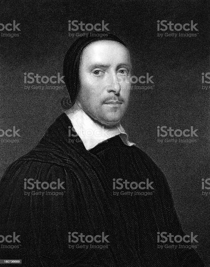 Jeremy Taylor, English theologian by William Holl. stock photo