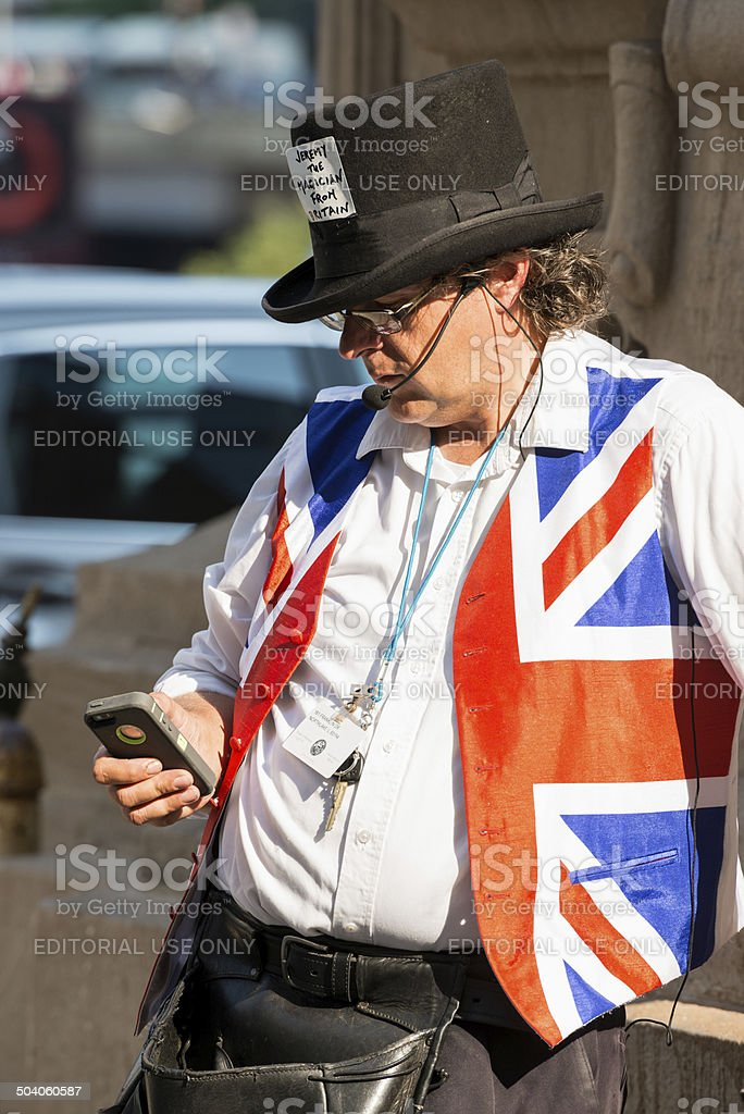 Jeremy the Magician from Britain stock photo