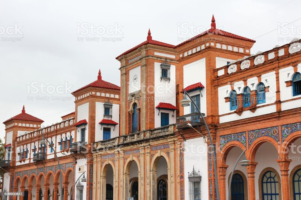 Jerez train station stock photo