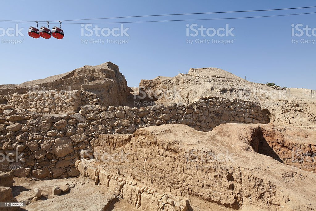 Jericho Ruins, Palestine stock photo