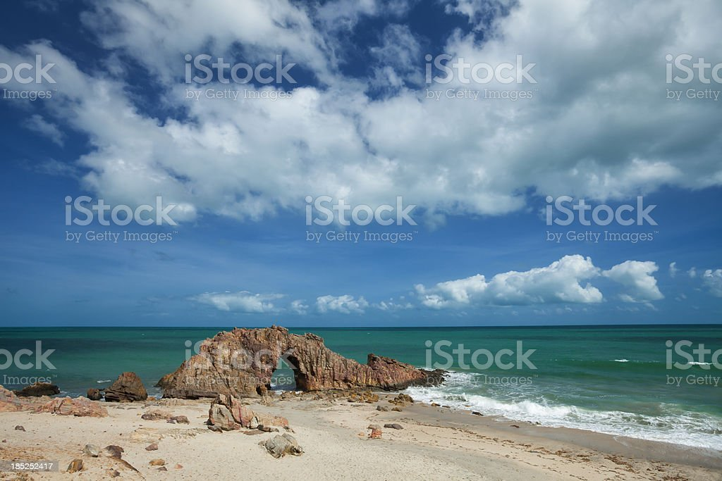 Jericoacoara landmark of Brazil stock photo