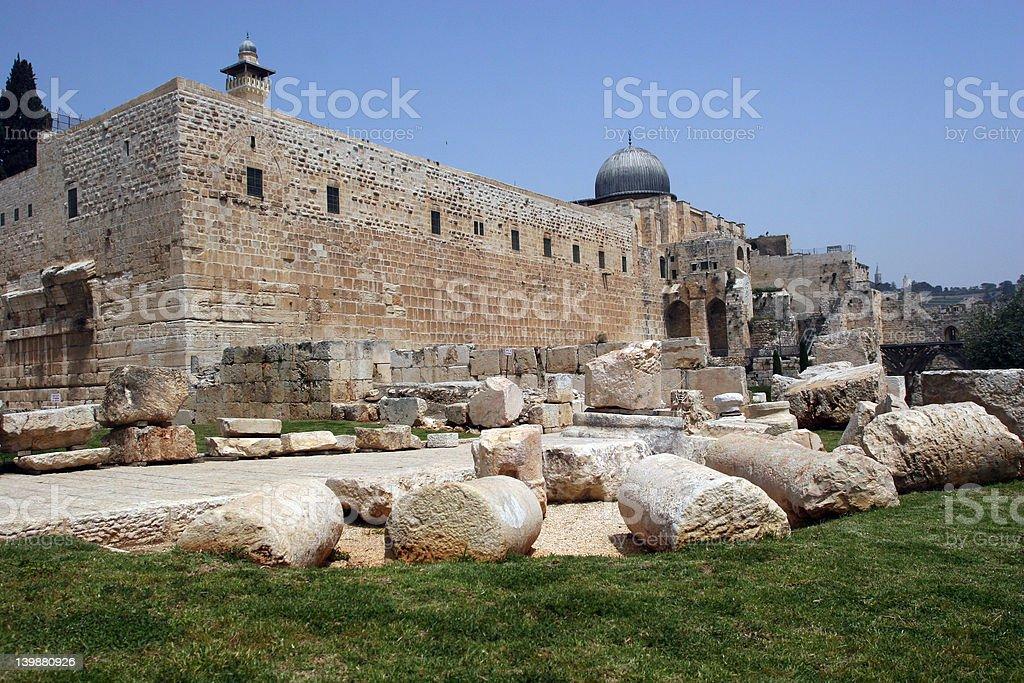Jerisalem Old City Walls royalty-free stock photo