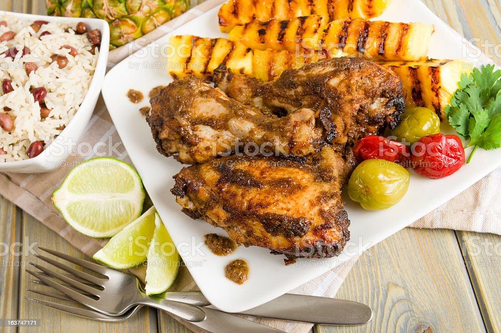Jerk Chicken stock photo