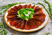 Jerked beef Meat Carpaccio
