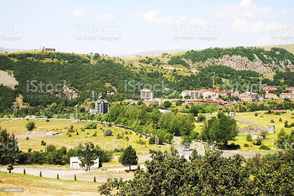 Jermuk city royalty-free stock photo