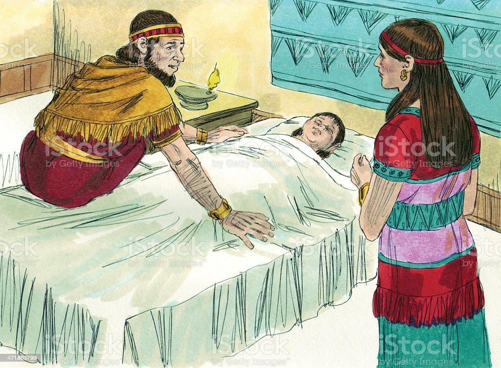Jeroboam's Son Gets Sick royalty-free stock photo