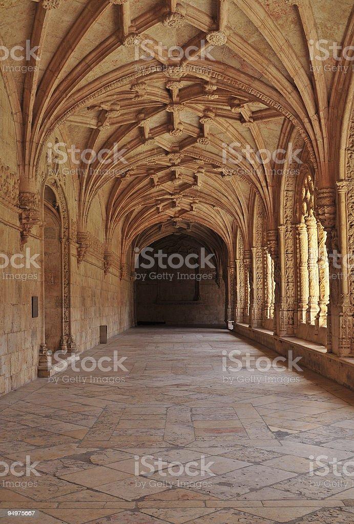 Jeronimo monastery, Lisbon royalty-free stock photo