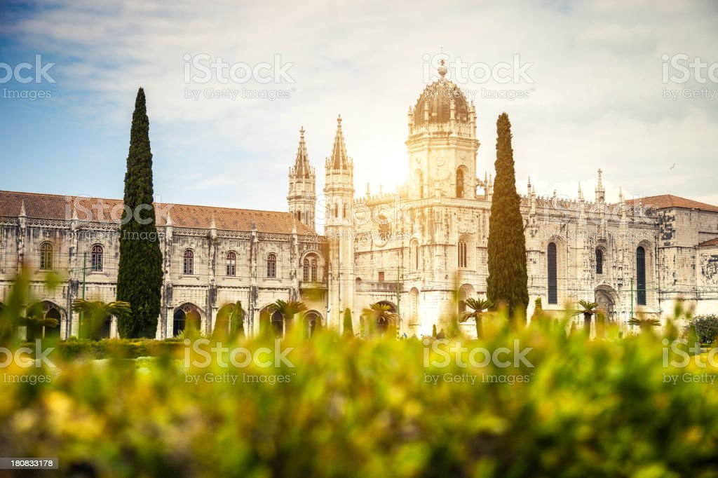 Jeronimos Monastery in Lisbon, Portugal stock photo