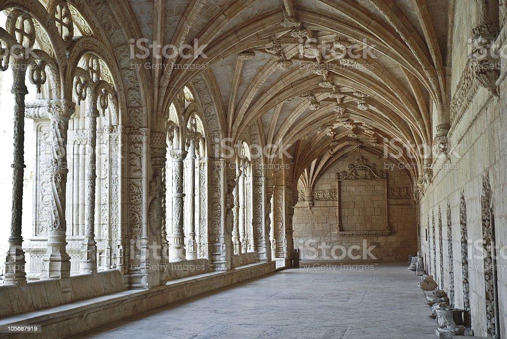 Jeronimos Monastery of Belem, Lisbon, Portugal. royalty-free stock photo