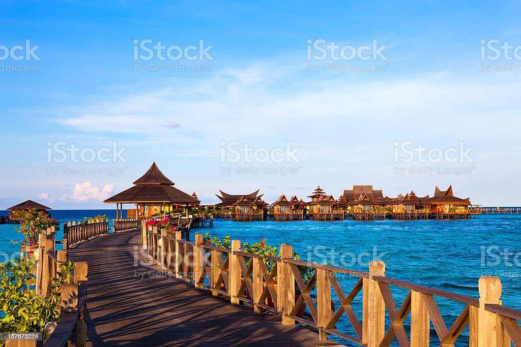 Jerry on Mabul Island, Sipadan, Borneo stock photo
