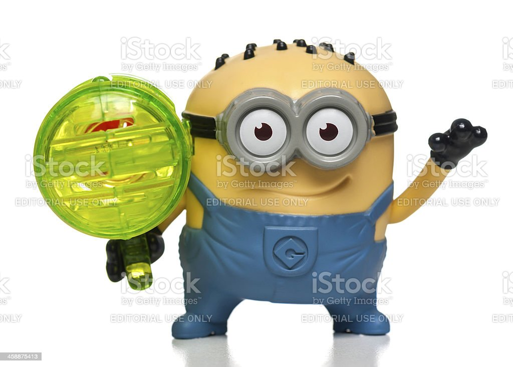 Jerry Whistle Minion McDonalds happy meal toy stock photo