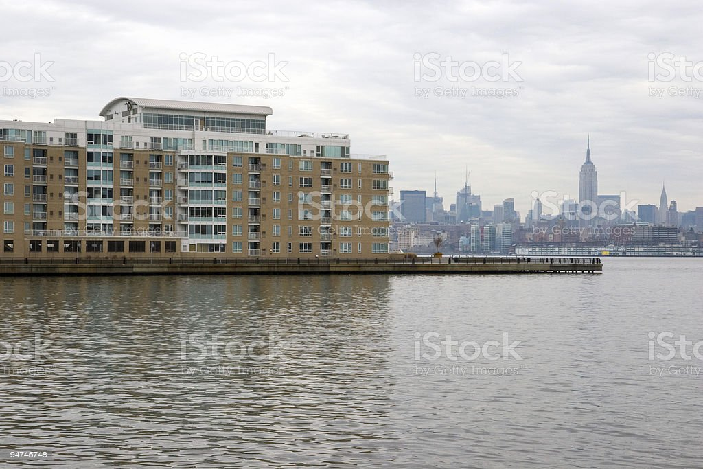 Jersey City Apartment building royalty-free stock photo