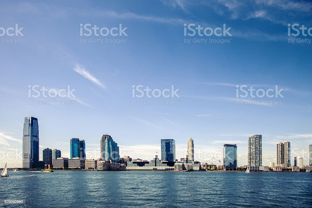 Jersey City downtown skyscrapers stock photo