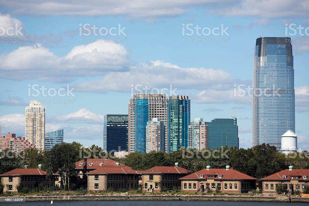 Jersey City Skyline royalty-free stock photo