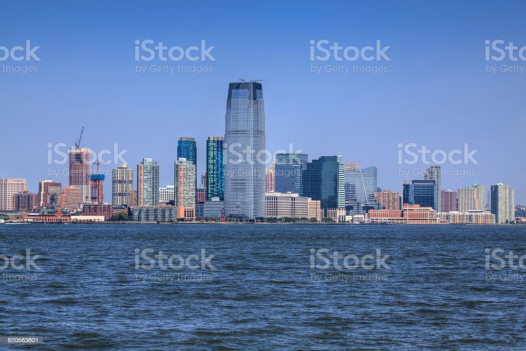 Jersey City Skyline with Goldman Sachs Tower. stock photo