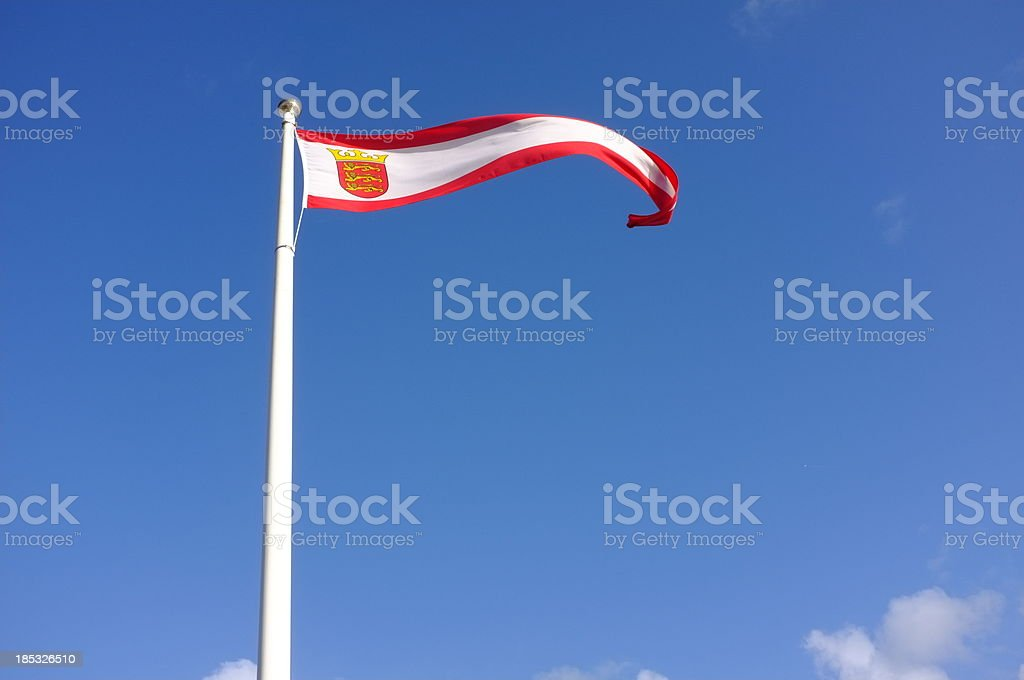 Jersey flag. royalty-free stock photo