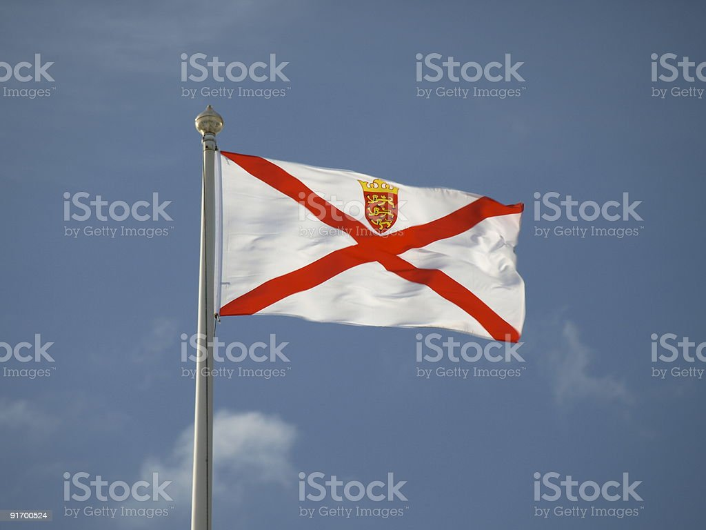 Jersey flag.Channel Islands. royalty-free stock photo