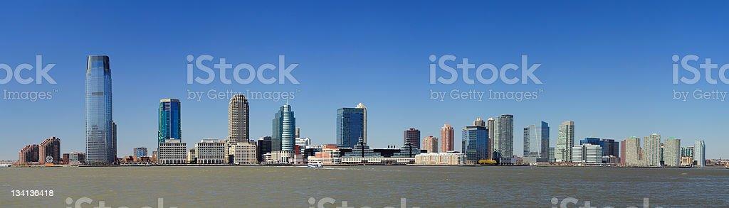 Jersey skyline from New York City Manhattan downtown stock photo