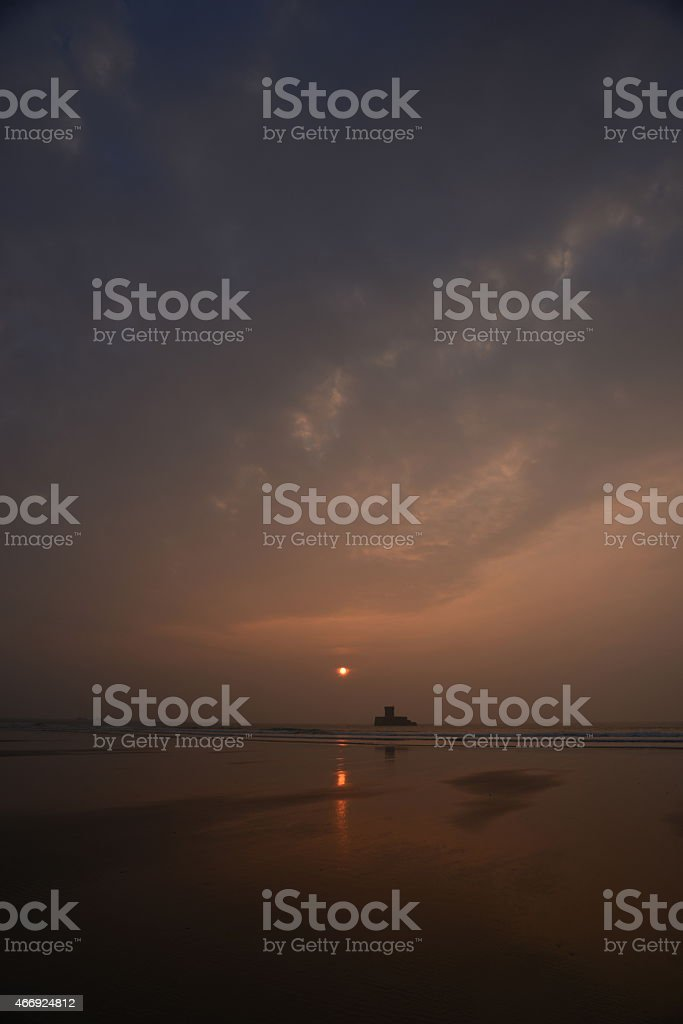 Jersey sunset, U.K. stock photo