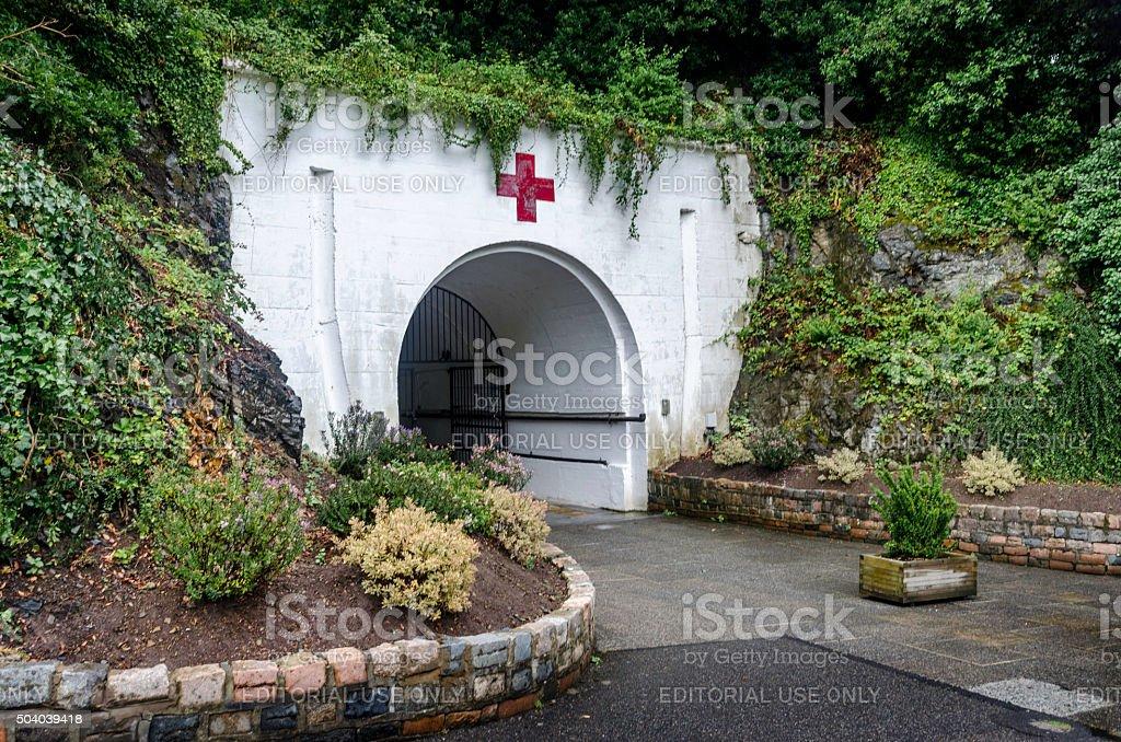 Jersey Underground Hospital stock photo