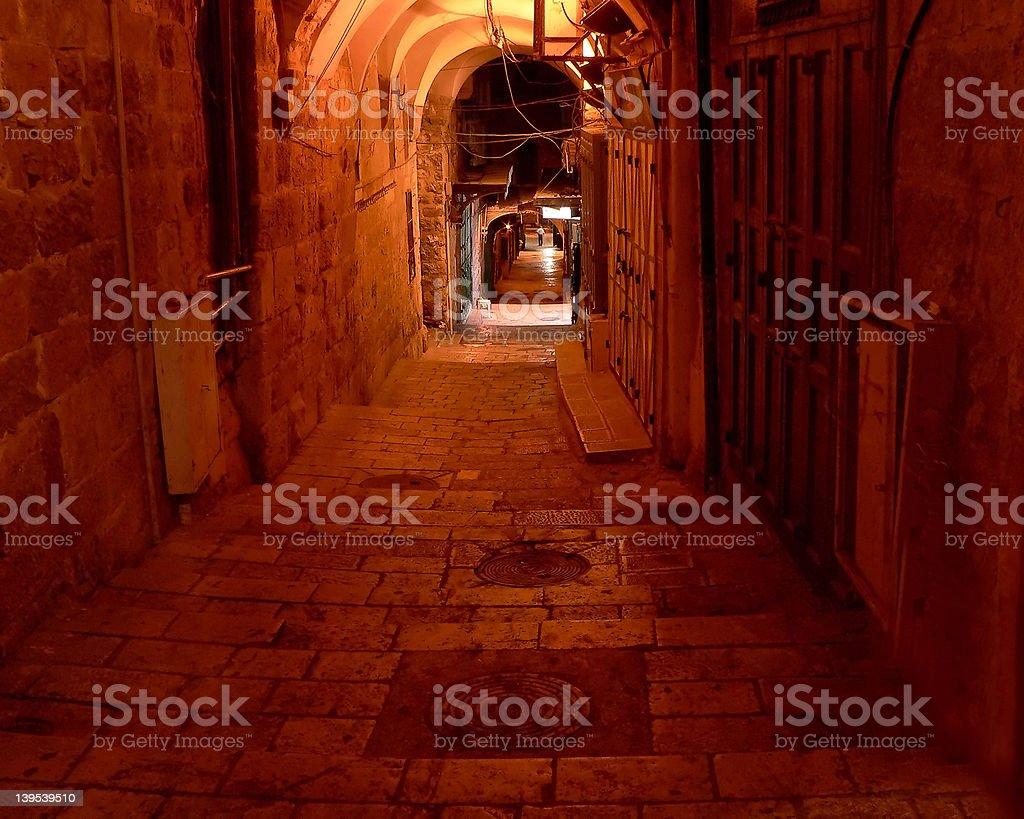 Jerusalem Alley royalty-free stock photo
