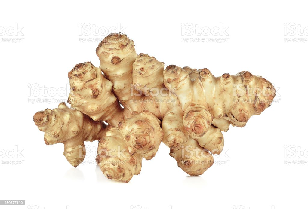 Jerusalem artichoke on a white background stock photo