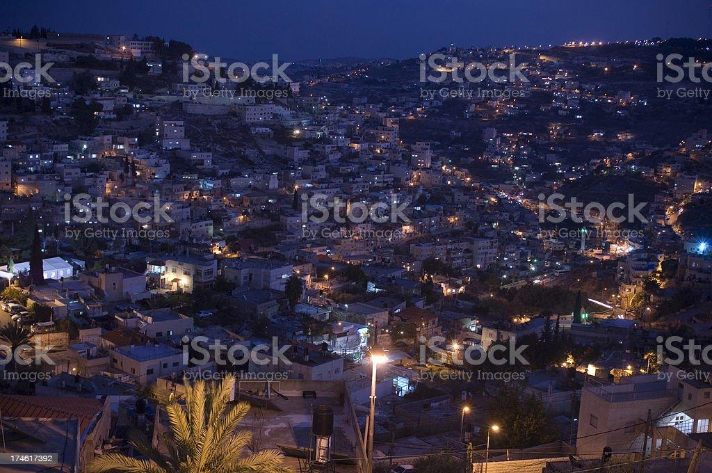 Jerusalem by night stock photo