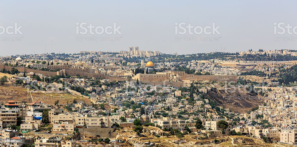 Jerusalem, capital of state Israel stock photo