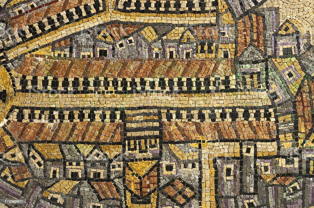 Jerusalem Cardo ancient mosaic royalty-free stock photo