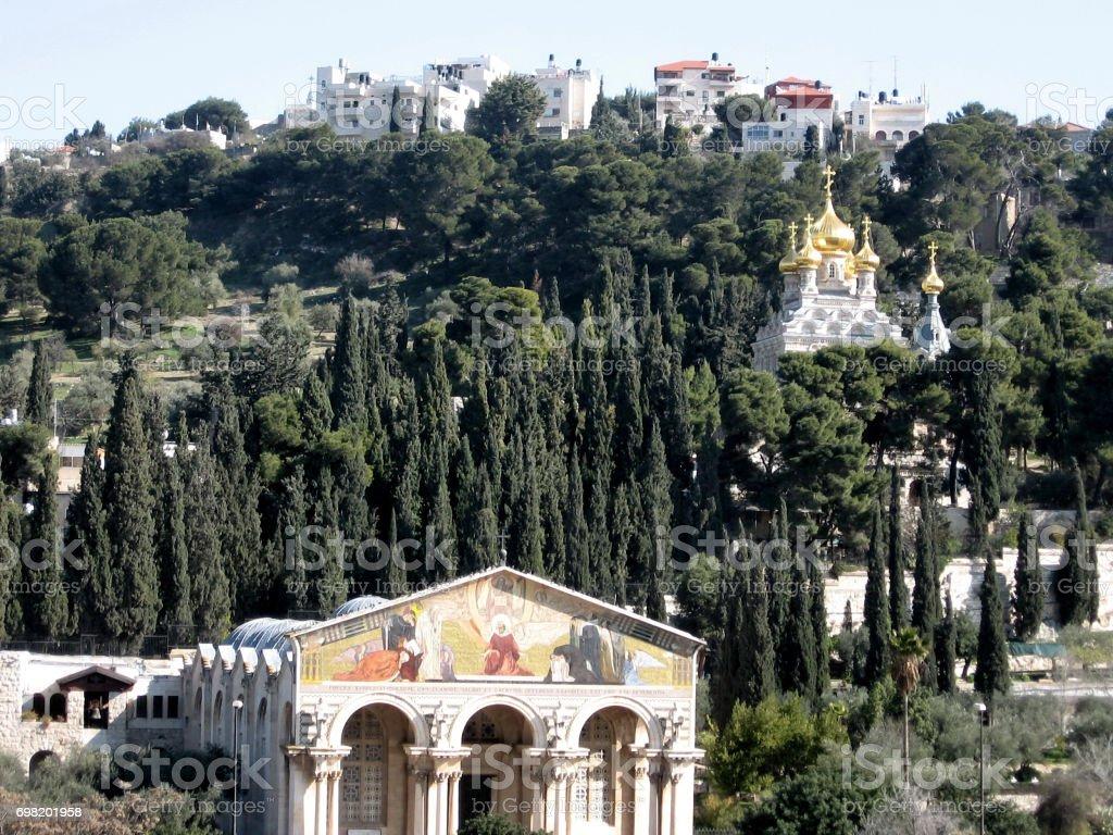 Jerusalem Churches on mount of olives 2008 stock photo